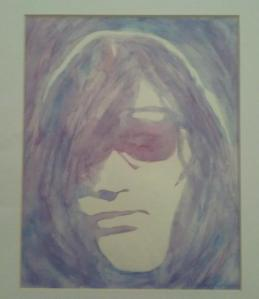 "(""Joey Ramone"" Watercolor by Sheila Renee Parker.)"