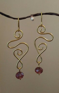 Swirl Drop Earrings