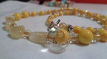 citrine yellow glass beads